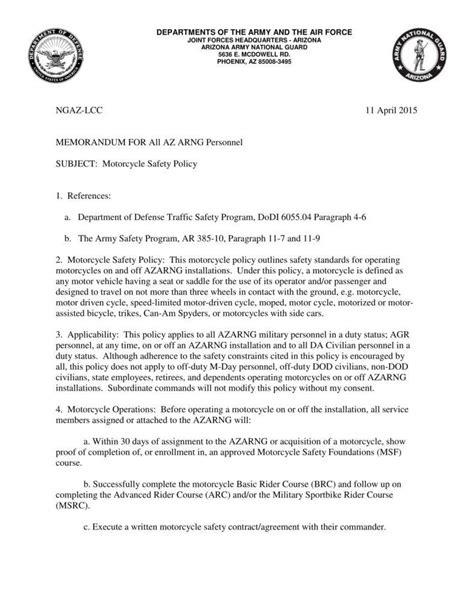 army letterhead templates  samples examples