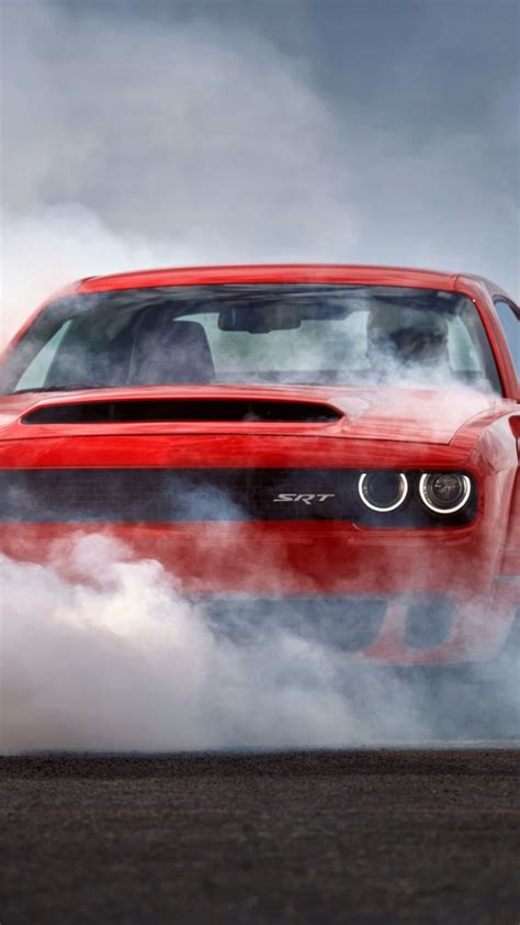 wallpaper dodge challenger srt demon hd wallpaper red