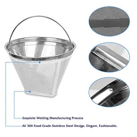 Getting a 12 cup coffee maker makes total sense if you have a medium or large family to brew. #4 Reusable Permanent Cone Coffee Filters 8~12 Cup Size 4 Coffee Filters Perfect Fit for ...