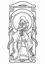 Nouveau Coloring Pages Woman Adults Drawing Adult Young Coat Frye Evie Hooded Inspiration Most Artist Justcolor Nggallery sketch template