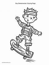 Skateboard Coloring Pages Skateboarding Skateboarder Boy Drawing Printable Mycoloring Sketch Popular Getcoloringpages Getdrawings Template Coloringhome sketch template