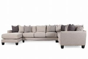 Three piece contemporary 159quot sectional in nutmeg brown for Sectional sofas mathis brothers