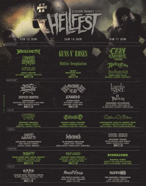 deck the 2012 lineup du hellfest into the