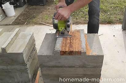 Concrete Bench Outdoor Homemade Modern Ep57 Step