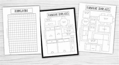 Planner Printable Furniture Templates Layout Rearranging Designs