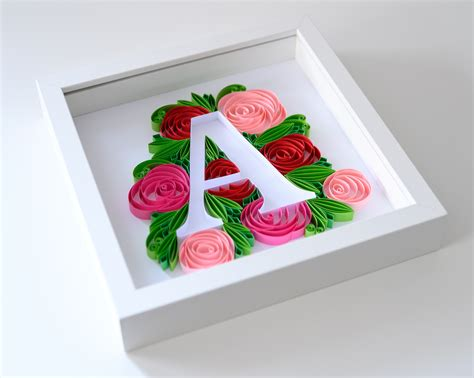 floral letter  quilling wall art paper paradise