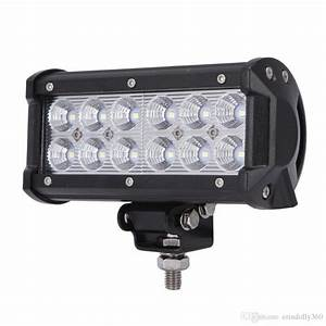 Jeep led flood lights : Led work light bar w flood lights fog driving