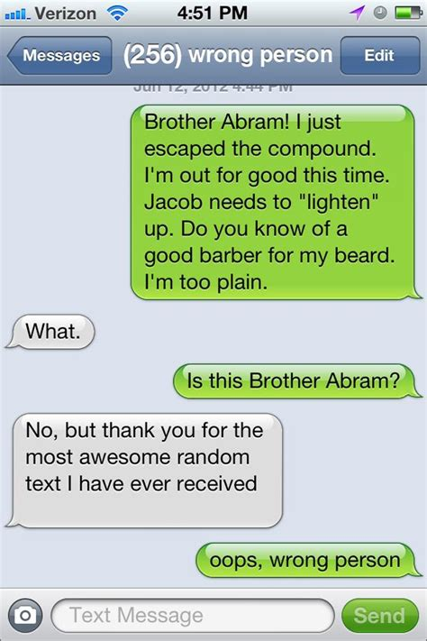 blog pranks cell phone users  wrong number texts
