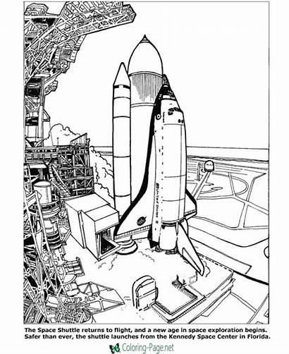 Space Coloring Pages Printable Below