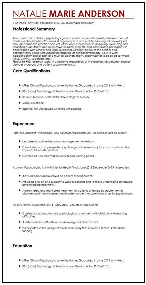 Cv Format For Application by Great Academic Cv Template For Phd Application Pictures Ai