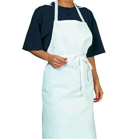tablier blanc de cuisine tablier cuisine à bavette bistro blanc coton sergé