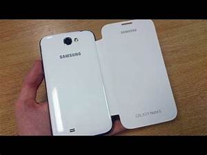 Genuine Samsung Galaxy Note 2 Flip Cover - White - EFC ...
