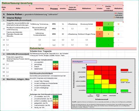 dokument excel tool vorlage risikomanagement