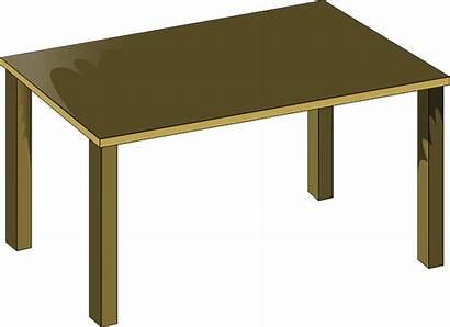 Clip Table Clipart Brown Vector Cartoon Cliparts