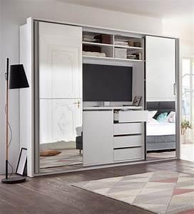 Schlafzimmerschrank Mit Tv : schwebet renschrank mit tv fach und spiegel kaufen otto ~ Markanthonyermac.com Haus und Dekorationen
