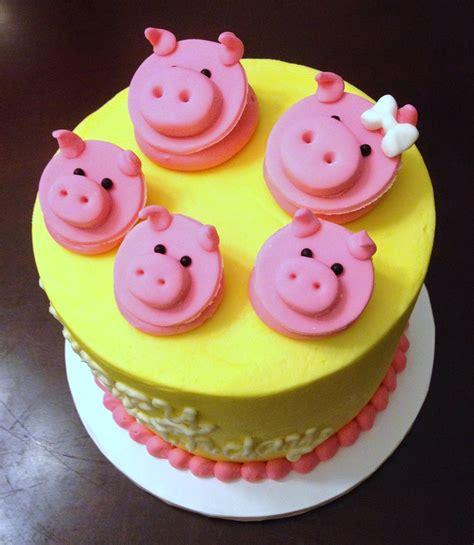 piggy cake  cupcake toppers
