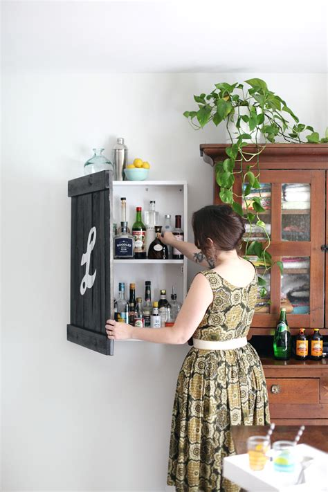 Diy Locked Liquor Cabinet by Build A Vintage Inspired Liquor Cabinet A Beautiful Mess
