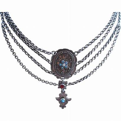 Hungarian Austro Silver Necklace Antique Rubylane