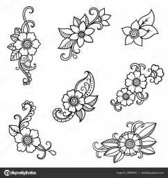 Verspielter Floraler Design Stil : henna tattoo blume vorlage mehndi stil satz von ornamentalen mustern im orientalischen stil ~ Watch28wear.com Haus und Dekorationen
