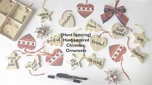 hand lettering hand lettered wooden christmas ornaments With hand lettering ornaments