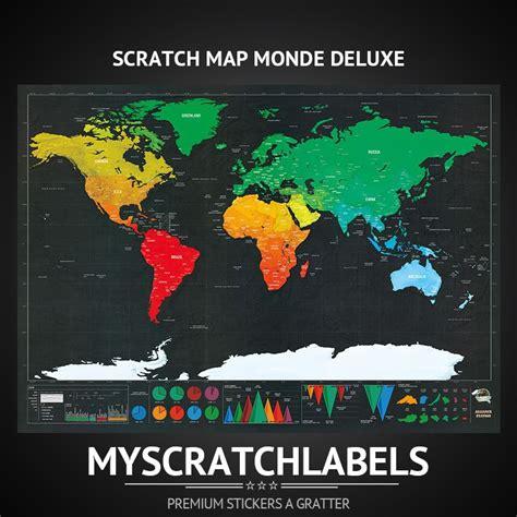 carte monde a gratter carte 224 gratter monde deluxe www myscratchlabels
