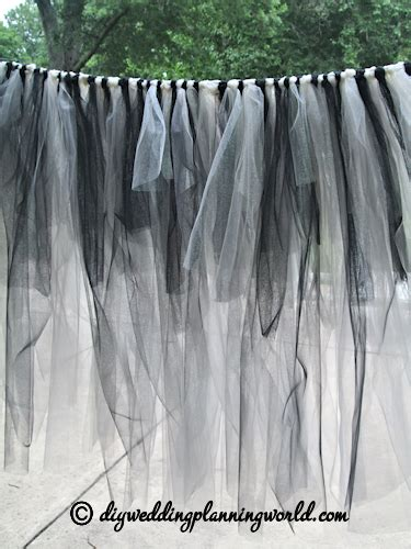 diy gothic tulle skirt for the cake table part 3 diy