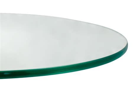 18'' Round 1/4 Inch Thick Flat Polished Tempered Glass