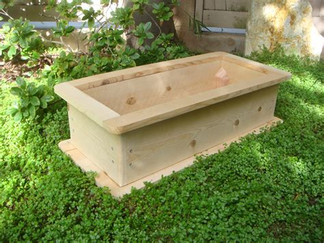 unfinished large cedar wood planter boxes for backyard or