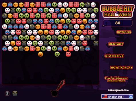 bubble hit halloween bubble shooter games  frivracing