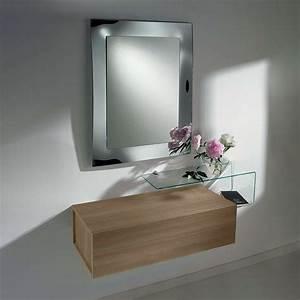 Due F Mobile ingresso con due cassetti, specchio e mensola in vetro Sediarreda