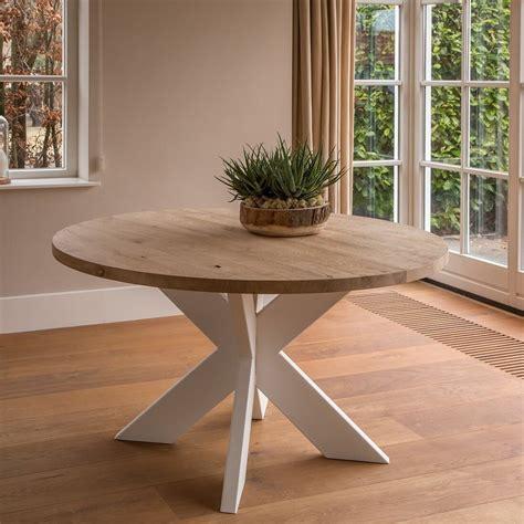 ronde industriele tafel norwich white tafelsnl