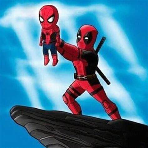 deadpool  baby spiderman deadpool funny deadpool
