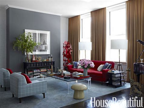 Red Grey White Living Room : Charcoal Grey Bedroom, Red Blue And Gray Living Rooms Red