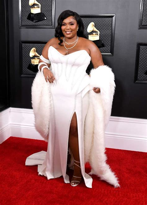 Lizzo Attends the 62nd Annual Grammy Awards at Staples ...