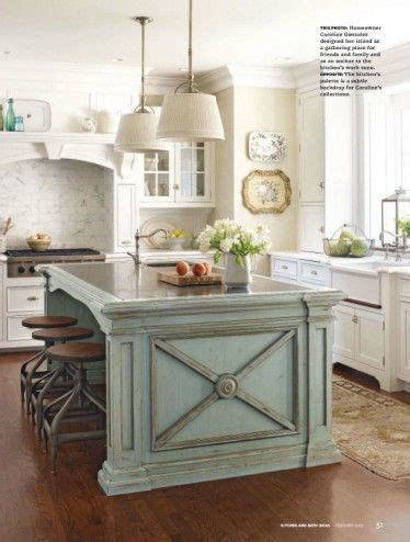 kitchen island blue sweetness and light the look of a painted island in 1844