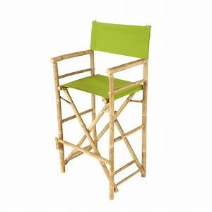 Chaise De Bar Maison Du Monde : chaise de bar de jardin en tissu et bambou verte robinson maisons du monde ~ Teatrodelosmanantiales.com Idées de Décoration