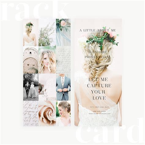 feminie touch rack card template   snap boutique