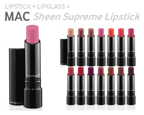 Mac Sheen Supreme Lipstick Mac Sheen Supreme Lipsticks Workchic