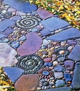 Stein Mosaik De : mosaik im garten 13 bezaubernde designs mit schwung ~ Markanthonyermac.com Haus und Dekorationen