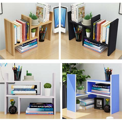 Desktop Bookcase by Wood Bookcase Adjustable Desktop Organizer Book Shelf