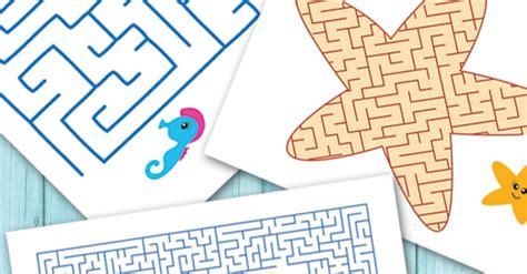 ocean animals printable mazes  kids