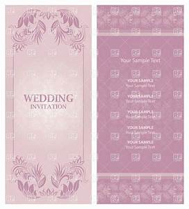 ornate violet wedding invitation template vector image With wedding invitation background music free download