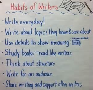 Writing Habits Anchor Chart