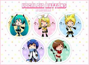 Chibi Vocaloid Buttons by Iris-Zeible on DeviantArt