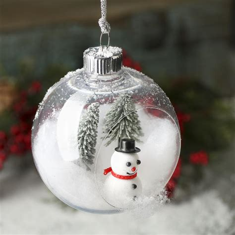 plastic open ornament ornaments and winter crafts - Plastic Christmas Ball Ornament Crafts