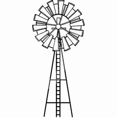 Windmill Farm Drawing Wind Mill Line Coloring