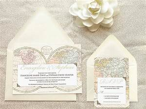 old world map travel wedding invitations destination wedding With destination wedding invitations nz