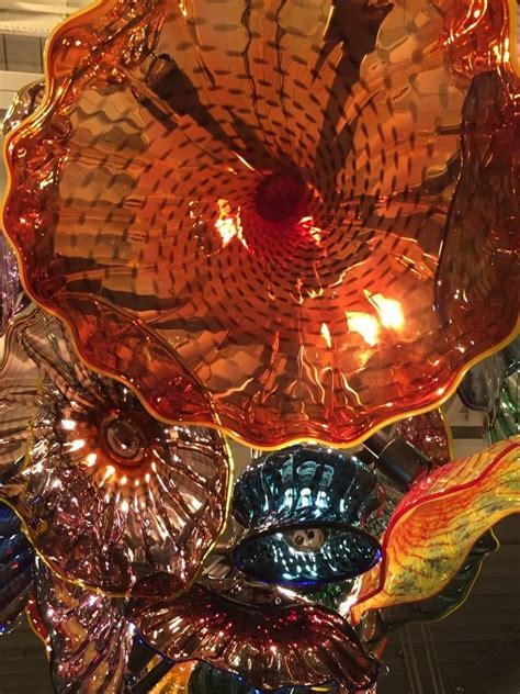 handblown glass chandelier in the style of chihuly for