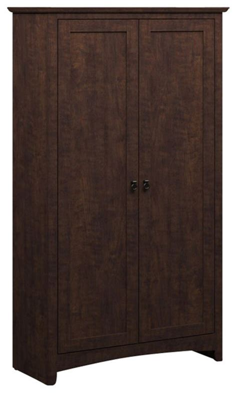 tall accent cabinets with doors bush buena vista 2 door tall storage cabinet in madison