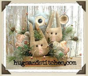 country and primitive easter and home decor items at hugsandstitches 4